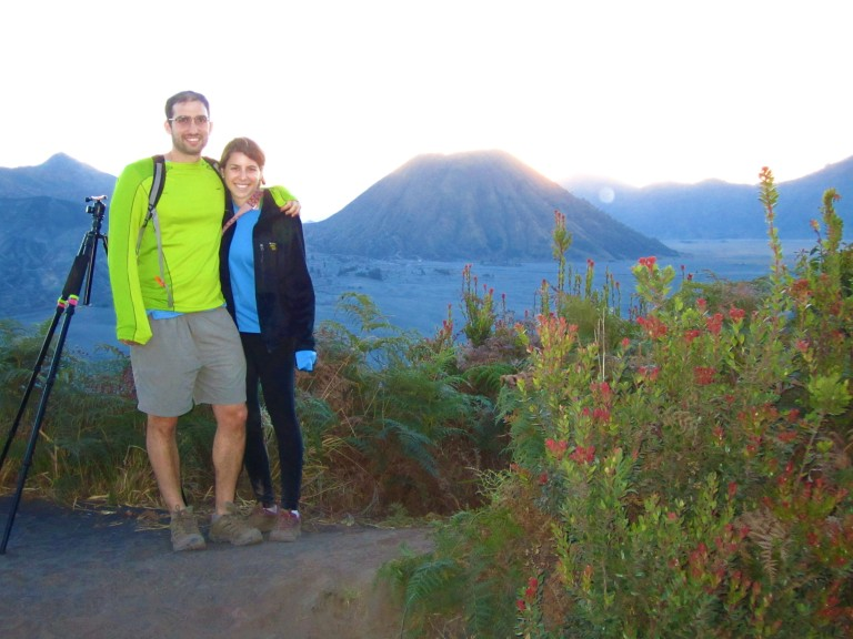 Watching sunset over the Tengger Caldera with Mt. Batok in the background