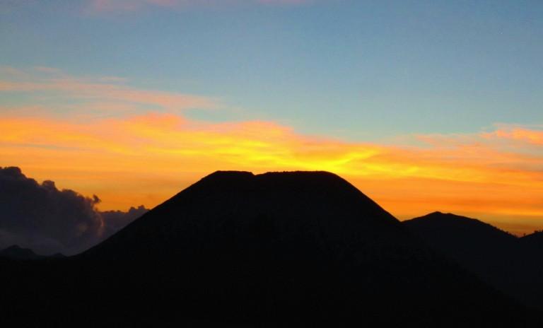 Sunset over the Tengger Caldera