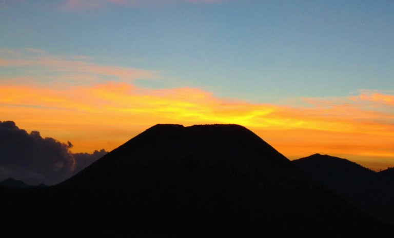 Sunset over the Tengger Caldera