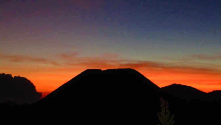 Sunset over the Tengger Caldera in East Java, Indonesia