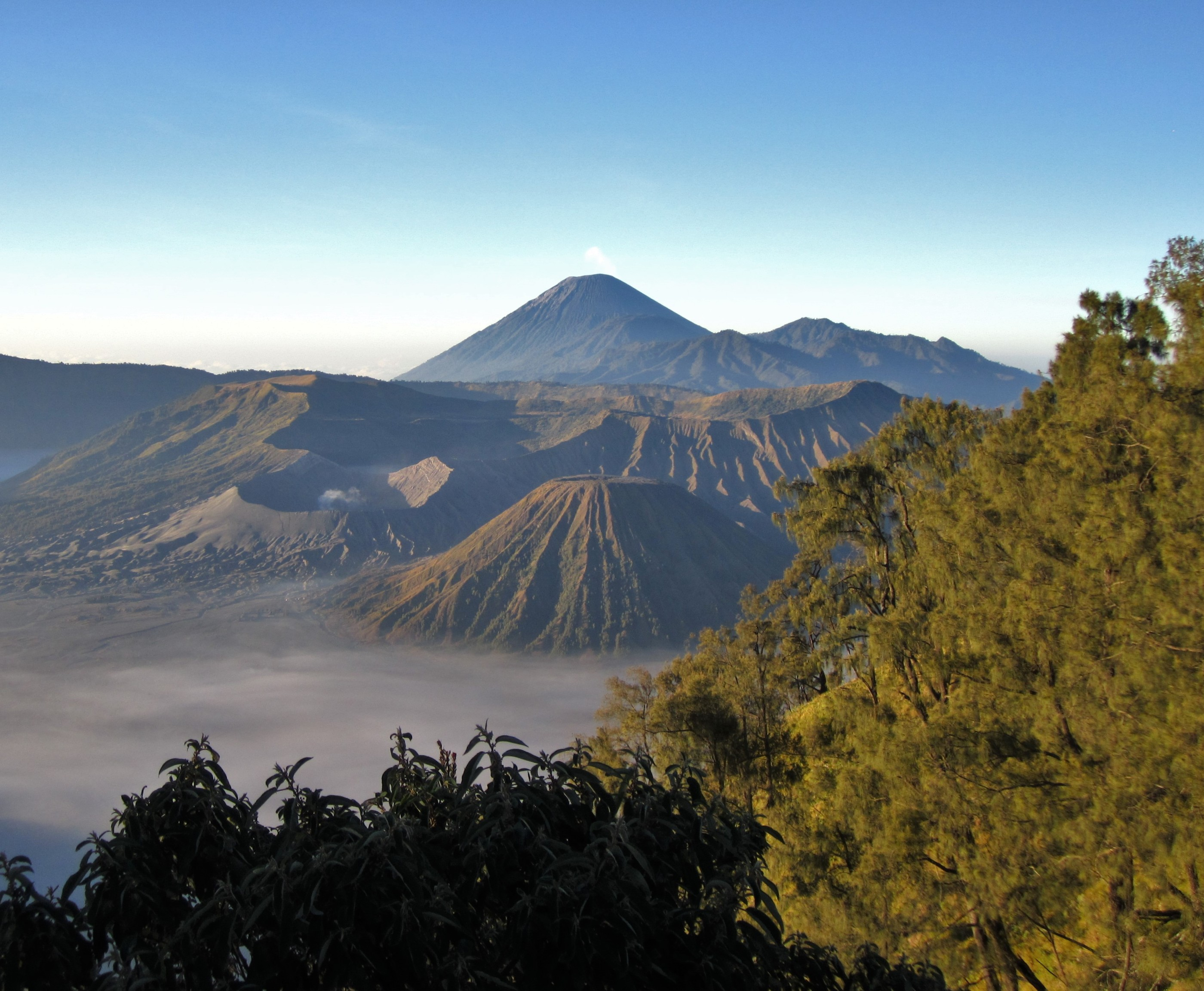 The Tengger Massif, a vast volcanic landscape in East Java, Indonesia