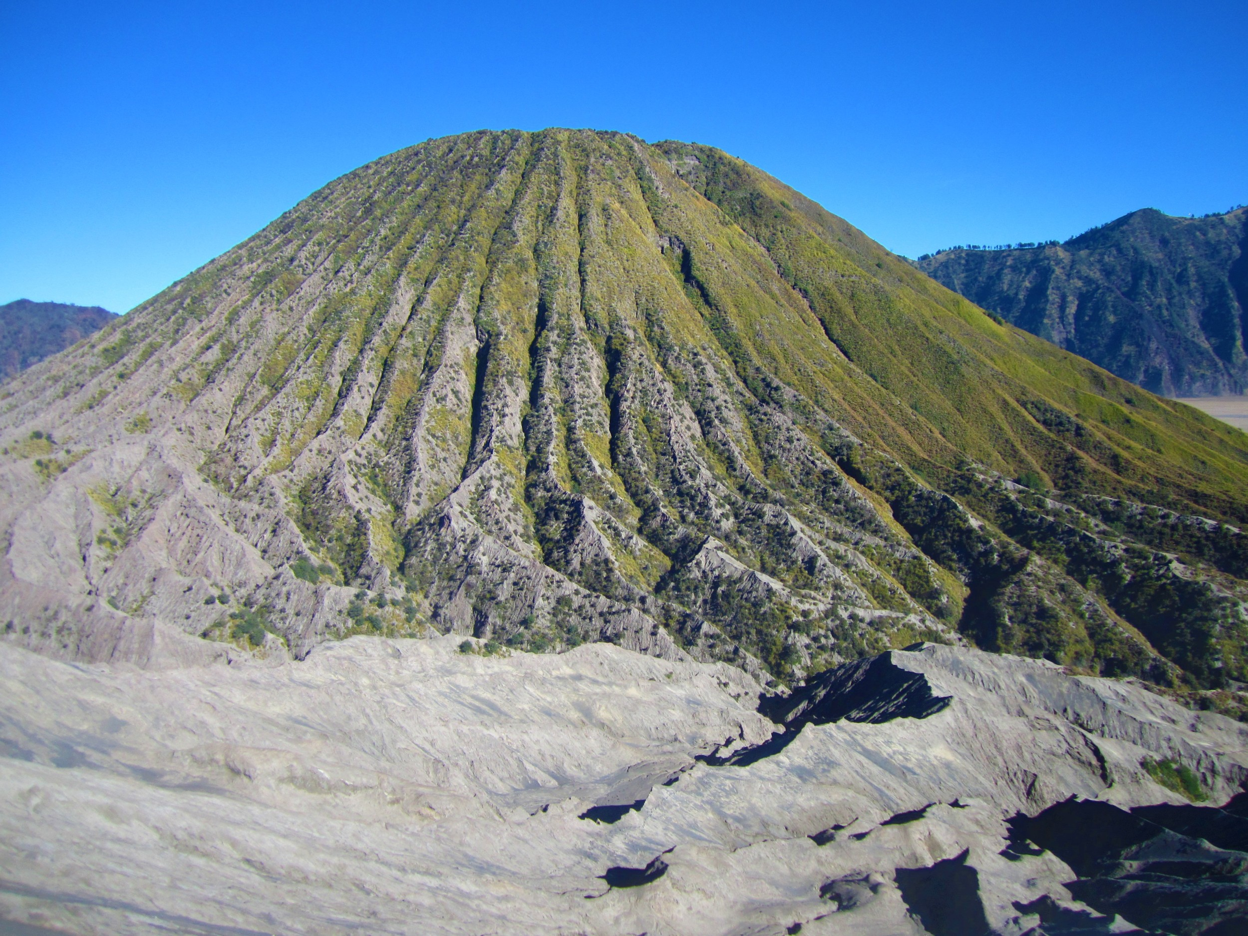 View of Mt. Batok along our climb to Mt. Bromo
