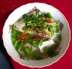 Beef pho, a Vietnamese noodle soup