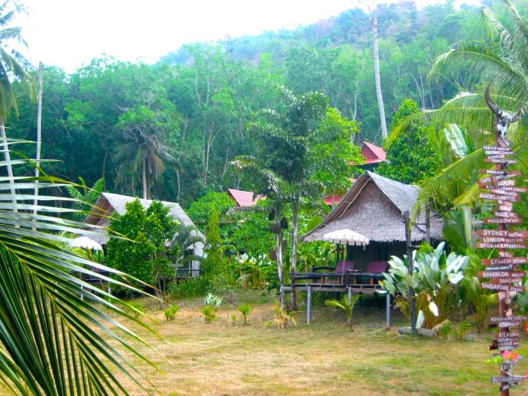 Bamboo bungalows in Tenta Nakara Resort in Nakha Yai island, Southern Thailand