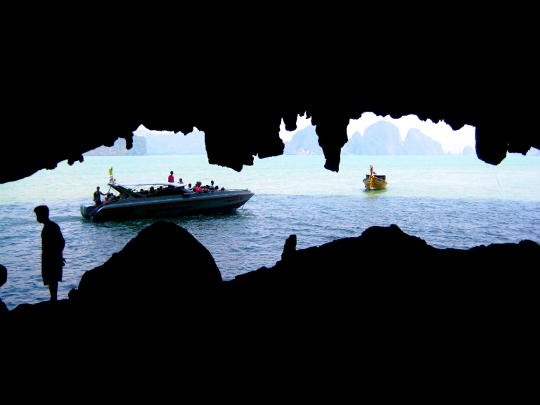 Scene from a cave in Phang Nga Bay in the Andaman Sea, South Thailand
