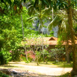 Thai-designed private homes in Railei Beach Club on the west side of Railay beach