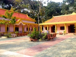 A beautiful Khmer school in Tra Vinh, home to many young Monks