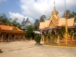 A beautiful Khmer Temple and school in Tra Vinh