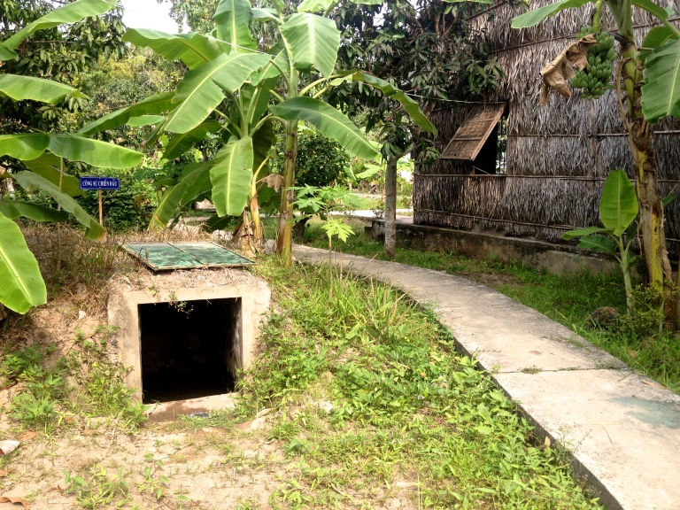 Remaining Viet Cong bunkers in South Vietnam