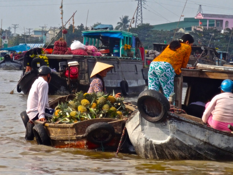 Phong Dien market in Can Tho, South Vietnam