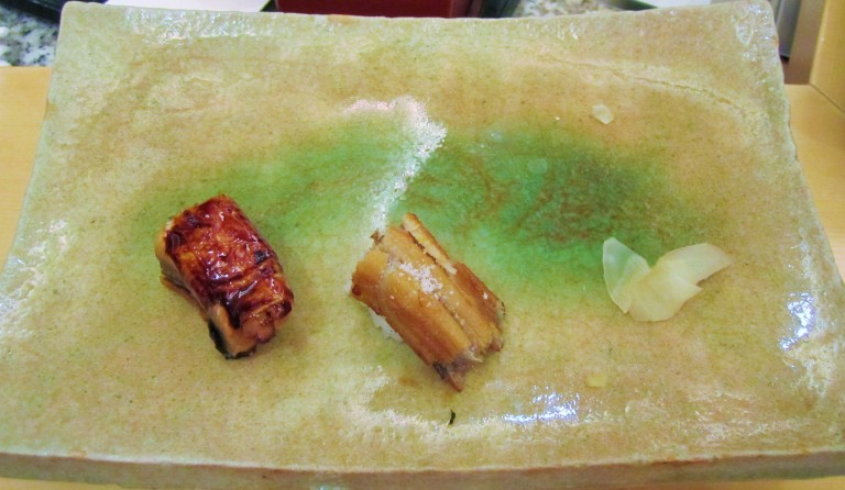 Unagi two ways at Kyubei, an excellent sushi restaurant in Ginza, Tokyo