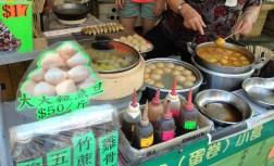 Local snack stalls, serving fish balls