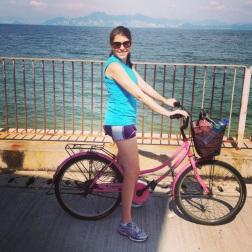 Biking around the island