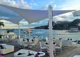 Outdoor bar and dining area at Hotel Movenpick in Lapu-Lapu City, Cebu, Philippines