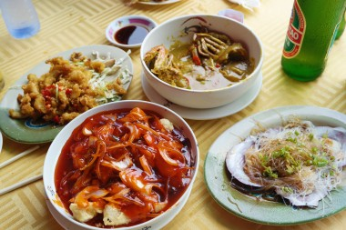 One of our many seafood meals - best sweet & sour fish in Asia