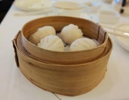 Shrimp dumplings (har gao)