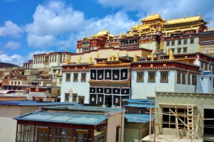 The Songzanlin Monastery in Shangri-La, China