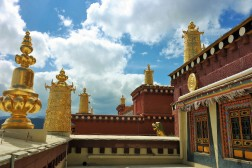 View from outside the Songzanlin Monastery in Shangri-La