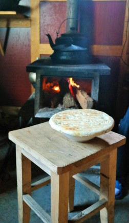 Homemade Tibetan bread from our guest house in Yubeng, China
