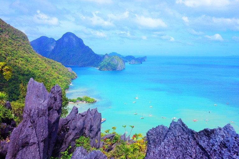 View from the top of our climb up Taraw Cliff in El Nido, Palawan