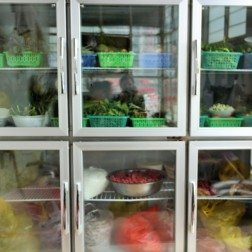Transparent refrigerator common in Yunnan and Tibetan towns