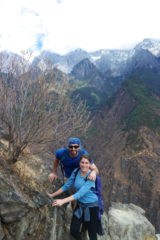 Climbing Tiger Leaping Gorge in Yunnan Province, China