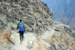 Walking along the Tiger Leaping Gorge trail