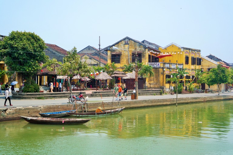 The Old Town in Hoi An along the Thu Bon River