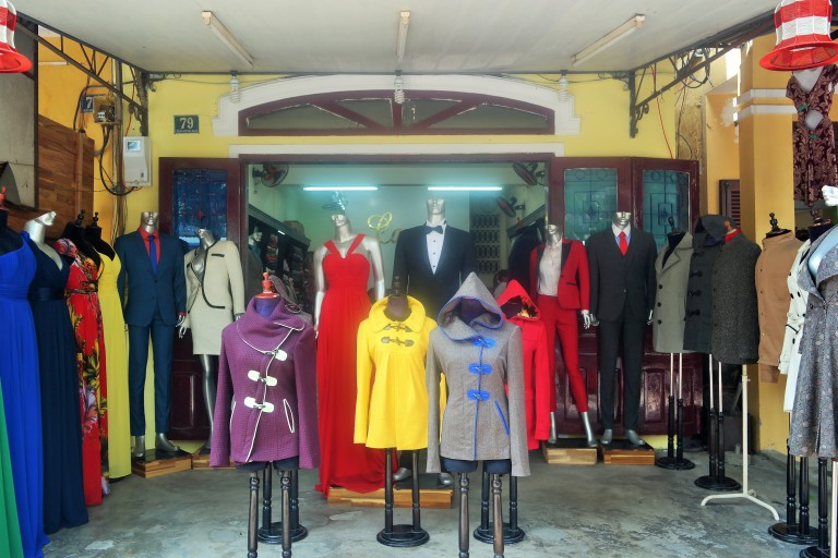 Clothing shops in Hoi An's Old Town