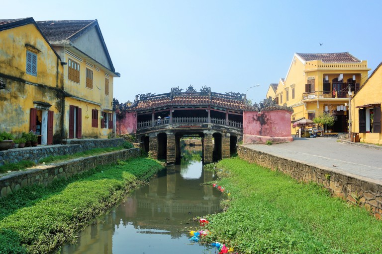 Hoi An's famous Japanese bridge built in 1590