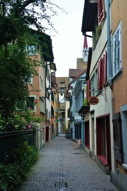 Narrow streets in Zurich's Old Town