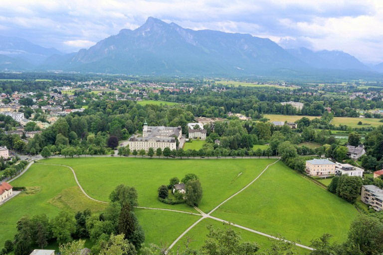 View of the surrounding countryside from the top of the Hohensalzburg Castle